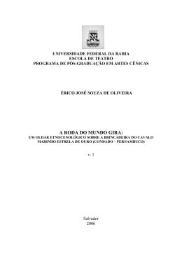 a roda do mundo gira - RI UFBA - Universidade Federal da Bahia