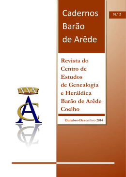 Revista do Centro de Estudos de Genealogia e