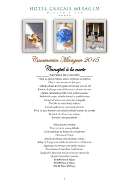 Casamentos 2015 - Hotel Cascais Miragem