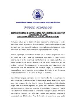 PRESS RELEASE REPARADORES AUTORIZADOS