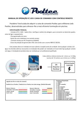 MANUAL DE OPERAÇÃO P/ LED E CAIXA DE COMANDO