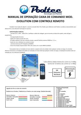 manual de operação caixa de comando mod. evolution