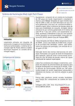 Sistema de Iluminação Mod: Light Tech Power Resgate Terrestre