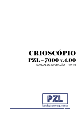 Manual do Crioscópio Eletrônico PZL 7000