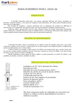 MANUAL DE REFERÊNCIA TÉCNICA - ELEVAC 200