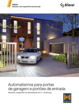 Automatismos para portas de garagem e portões de