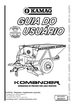 Guia do Usuário KOMANDER ED e CD MECÂNICAS