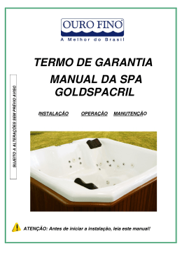 Manual GOLDSPACRIL RETANGULAR