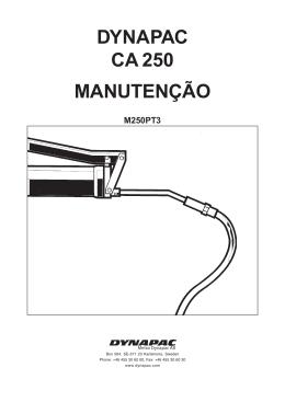 DYNAPAC CA 250 MANUTENÇÃO
