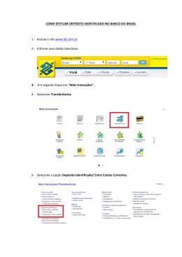 Como efetuar depósito identificado no Banco do Brasil