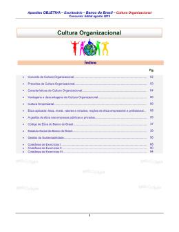 Cultura Organizacional - Apostilas Para Concursos Públicos