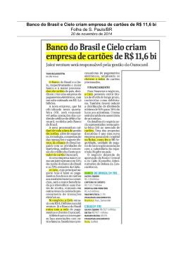 Banco do Brasil e Cielo criam empresa de cartões de R$ 11,6 bi