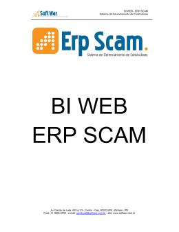 BI WEB - ERP SCAM Sistema de Gerenciamento de