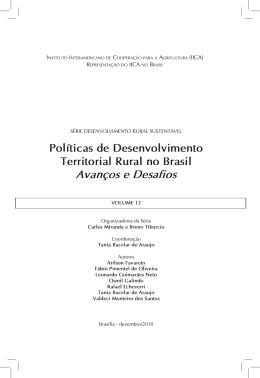 Livro Políticas de Desenvolvimento Territorial Rural no Brasil IICA