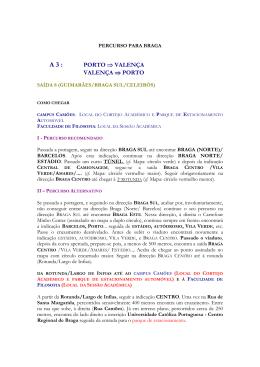 PERCURSO BRAGA - Universidade Católica Portuguesa