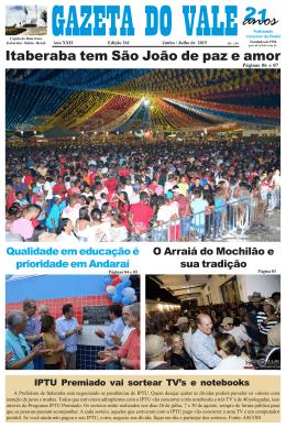 Edição 261.p65 - Jornal Gazeta do Vale Itaberaba | Jornal Gazeta