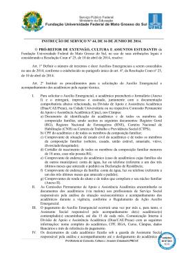 INSTRUÇÃO DE SERVIÇO N° 44, DE 16 DE