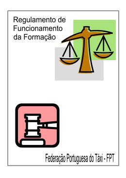 regulamento formação - FPT - Federação Portuguesa do Táxi