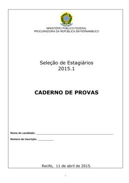Caderno de Provas - Direito 2015.1