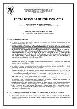 EDITAL DE BOLSA DE ESTUDOS - 2015