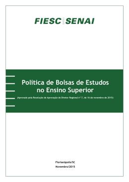 Política de Bolsas de Estudos no Ensino Superior