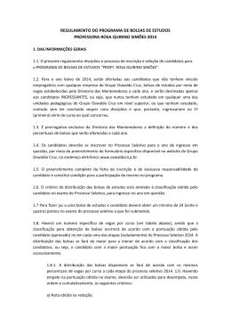 Bolsas de Estudo - Faculdades Oswaldo Cruz