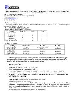 1. Bolsa de Estudos A Faculdade São Judas Tadeu oferece 15