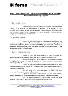 Regulamento Curso Inglês
