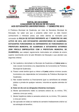 Edital 001_2015_SEME - Bolsa de Estudos 1º Semestre de