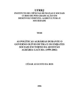 Arquivo em PDF - Dados e textos sobre a Luta pela Terra e a