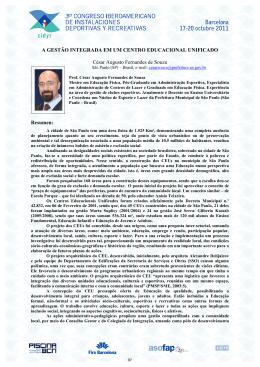 A GESTÃO INTEGRADA EM UM CENTRO EDUCACIONAL
