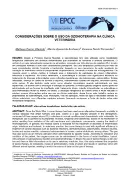 considerações sobre o uso da ozonioterapia na clínica