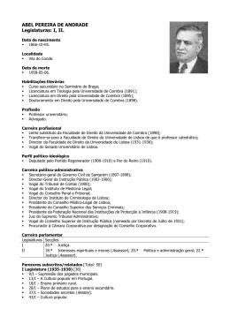 ABEL PEREIRA DE ANDRADE Legislaturas: I, II.