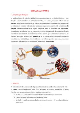 BIOLOGIA 10ºANO