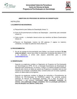 Universidade Federal de Pernambuco Centro de Ciências da