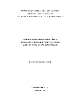 Sistemas Agroflorestais pecuários - Ministério do Desenvolvimento