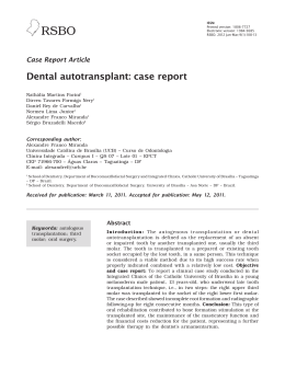 Dental autotransplant: case report