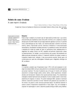 Relato de caso: Oxalose A case report: Oxalosis