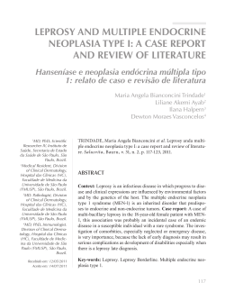 leprosy and multiple endocrine neoplasia type i: a case report