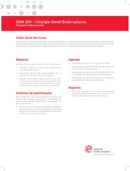 GEN 201 - Cirurgia Geral Endo-suturas