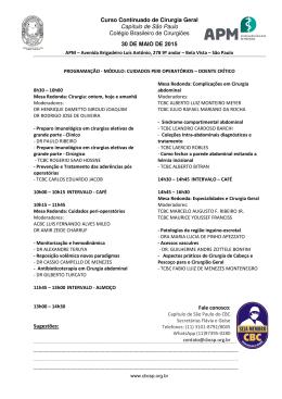 Curso Continuado de Cirurgia Geral Capítulo de São Paulo Colégio