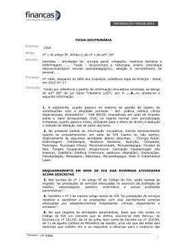 FICHA DOUTRINÁRIA Diploma: CIVA Artigo: nº 1 do artigo 9º