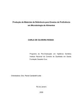 Produção de Materiais de Referência para Ensaios - Arca