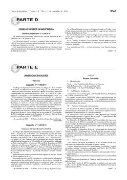 Deliberação (extrato) n.º 1759/2014