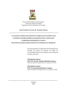José Guido Corrêa de Araújo Júnior Orientador interno Prof. Dr