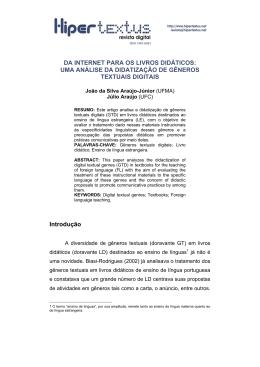 João da Silva Araújo-Júnior - Hipertextus Revista Digital