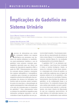 Implicações do Gadolínio no Sistema Urinário