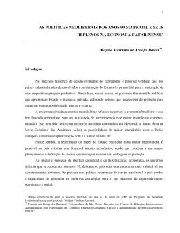 as políticas neoliberais dos anos 90 no brasil e seus