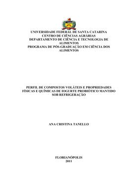 universidade federal de santa catarina centro de ciências agrárias