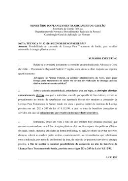 Nota técnica nº 82 /2014 - Pró-reitoria de Gestão de Pessoas da